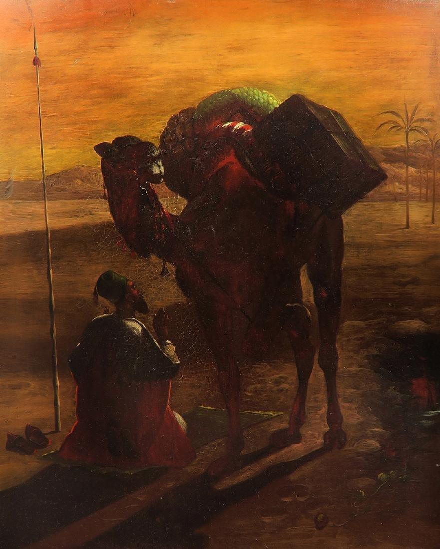 Pair Of 19th C. Orientalist Oil On Copper Paintings - 3