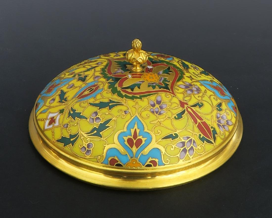 Barbedienne Napoleon III Gilt Bronze & Champleve Casket - 5