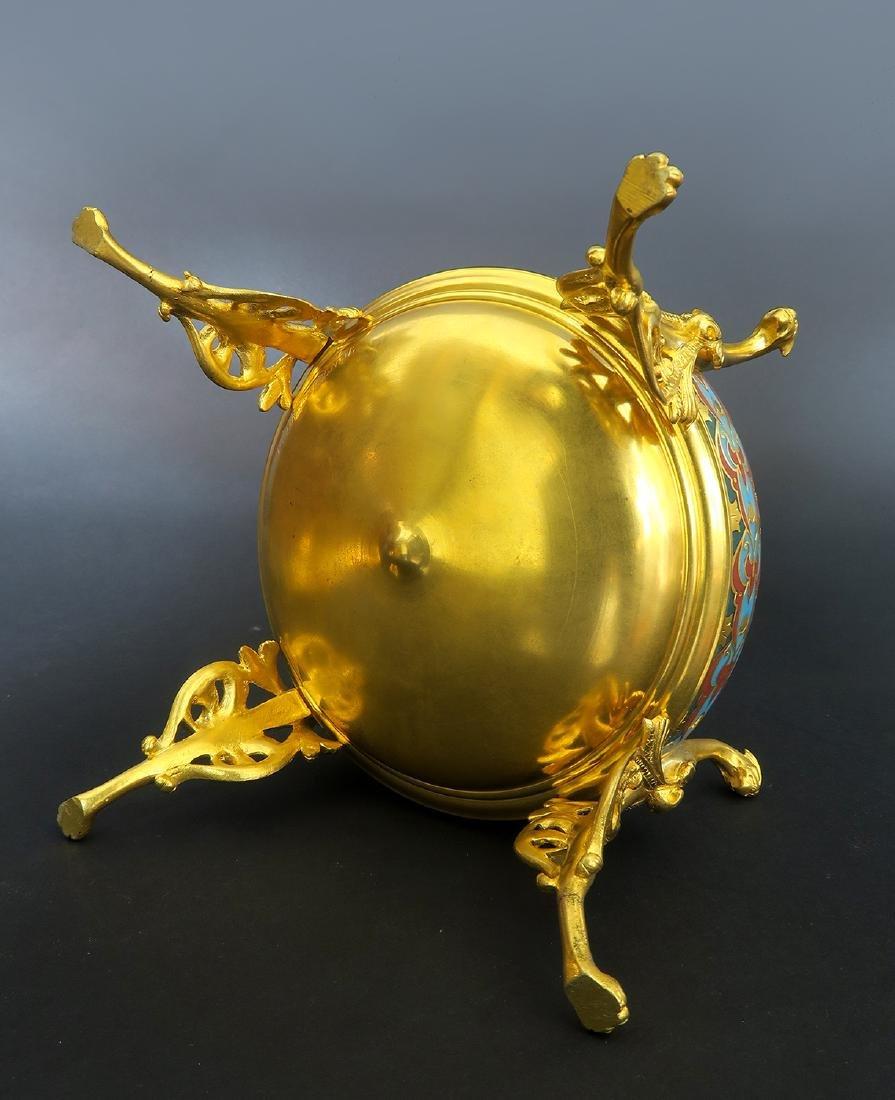 Barbedienne Napoleon III Gilt Bronze & Champleve Casket - 6