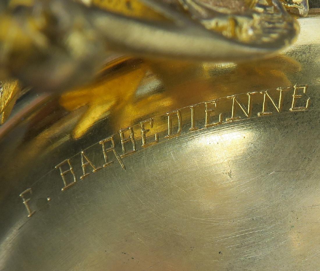 Barbedienne Napoleon III Gilt Bronze & Champleve Casket - 7