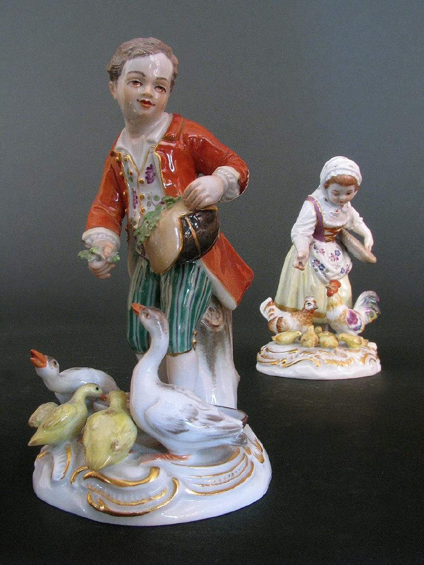 A Pair of 19th C. Meissen Figurines - 3