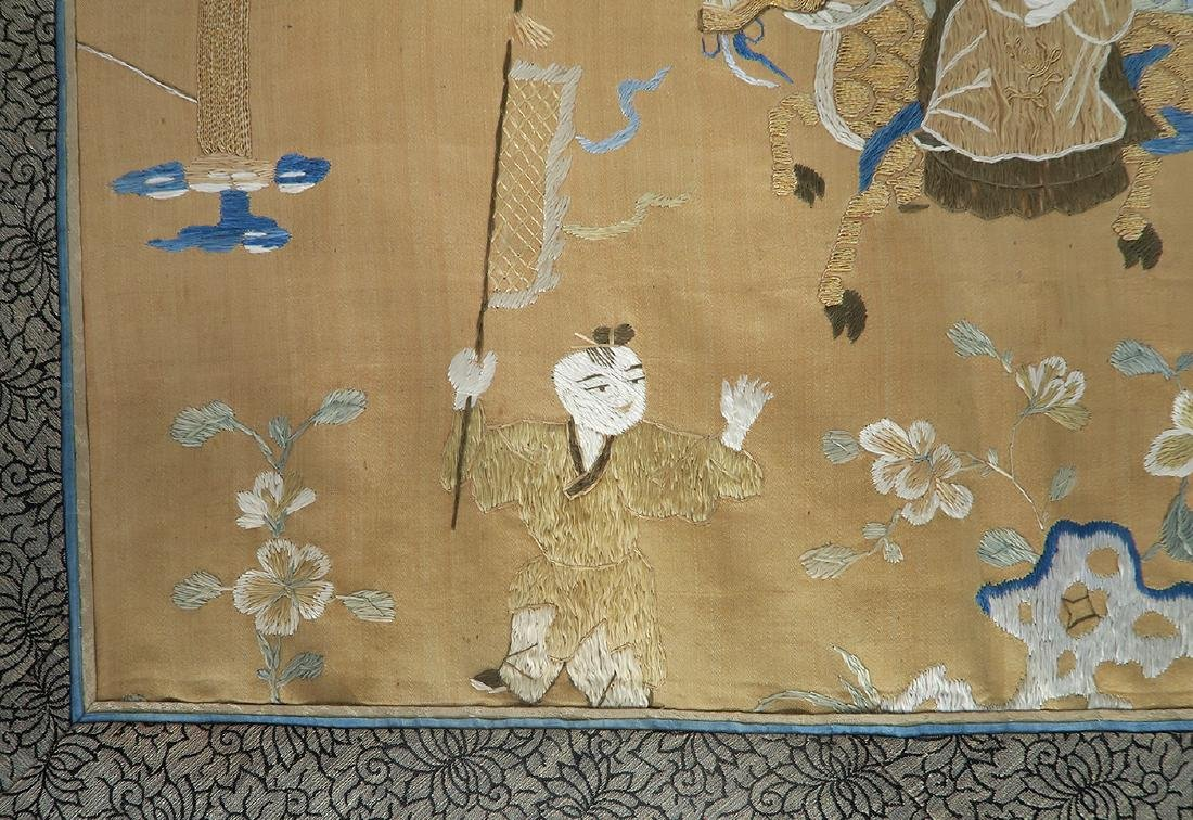 19th C. Chinese Silk Tapestry - 6