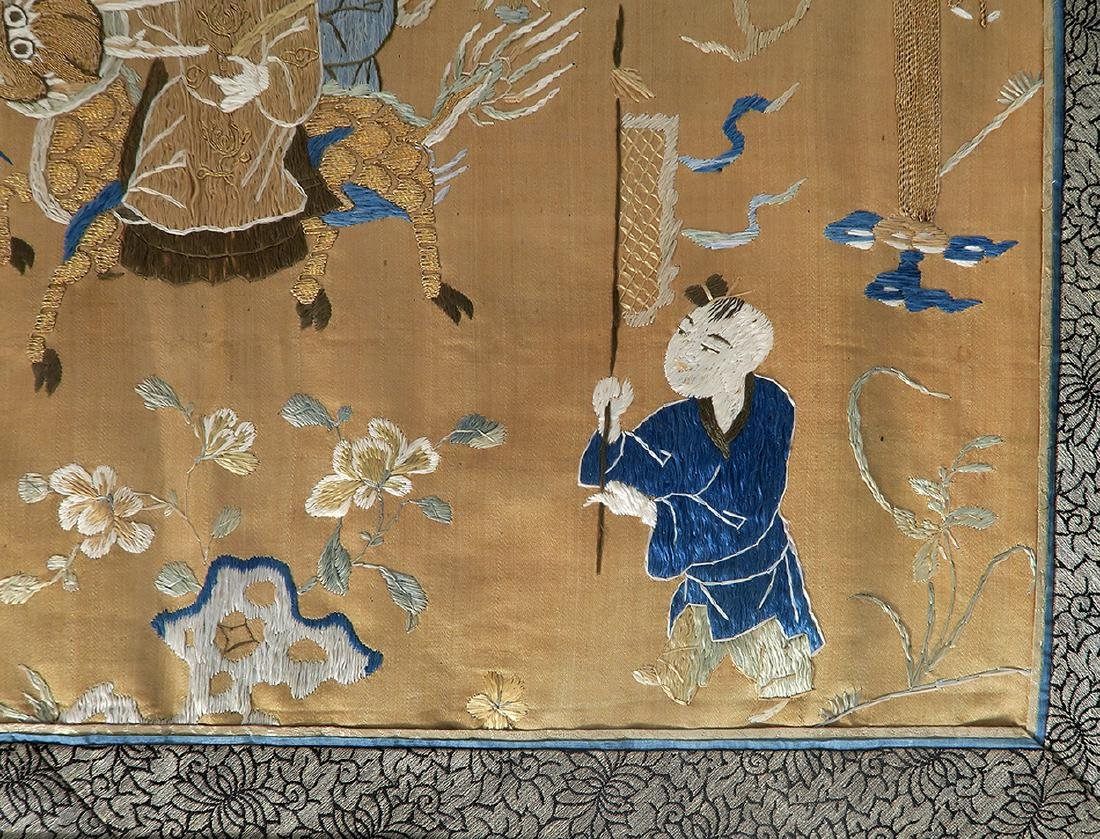 19th C. Chinese Silk Tapestry - 7