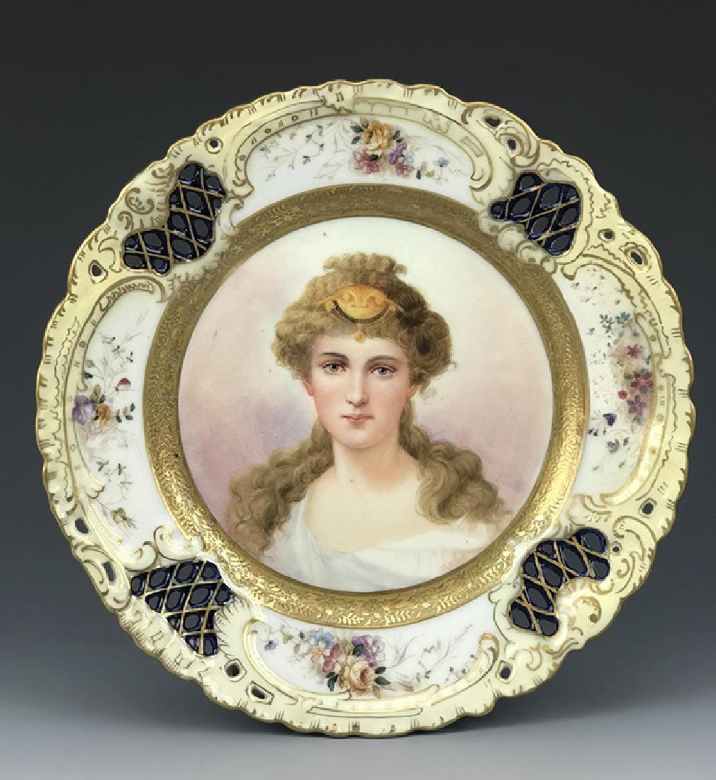 19th C. Hand Painted Royal Vienna Cabinet Plate