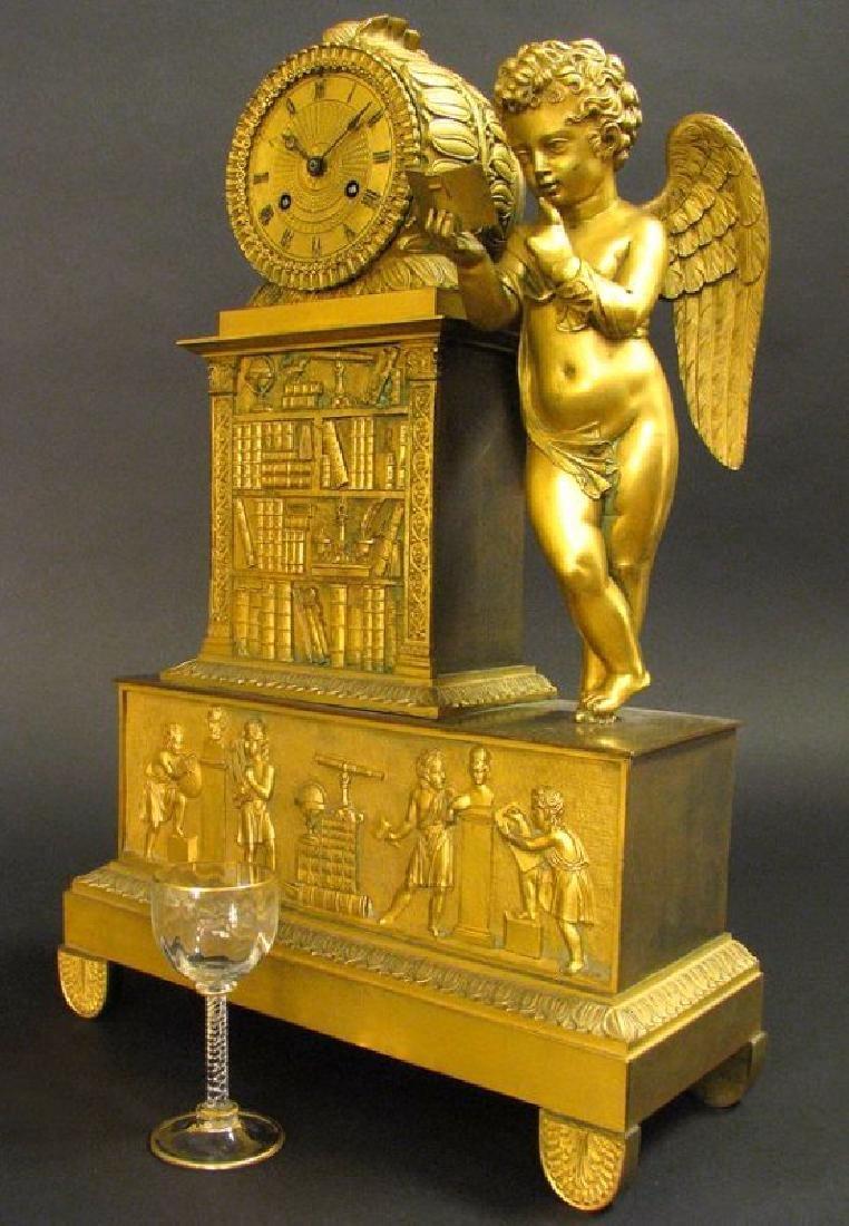 Magnificent 19th C. Large Empire Figural Clock
