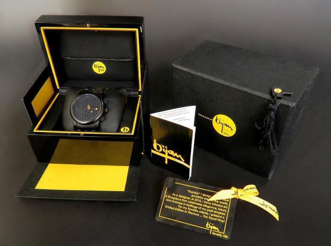 "Limited Edition Titanium Bijan ""Royal Way"" Men's Watch"