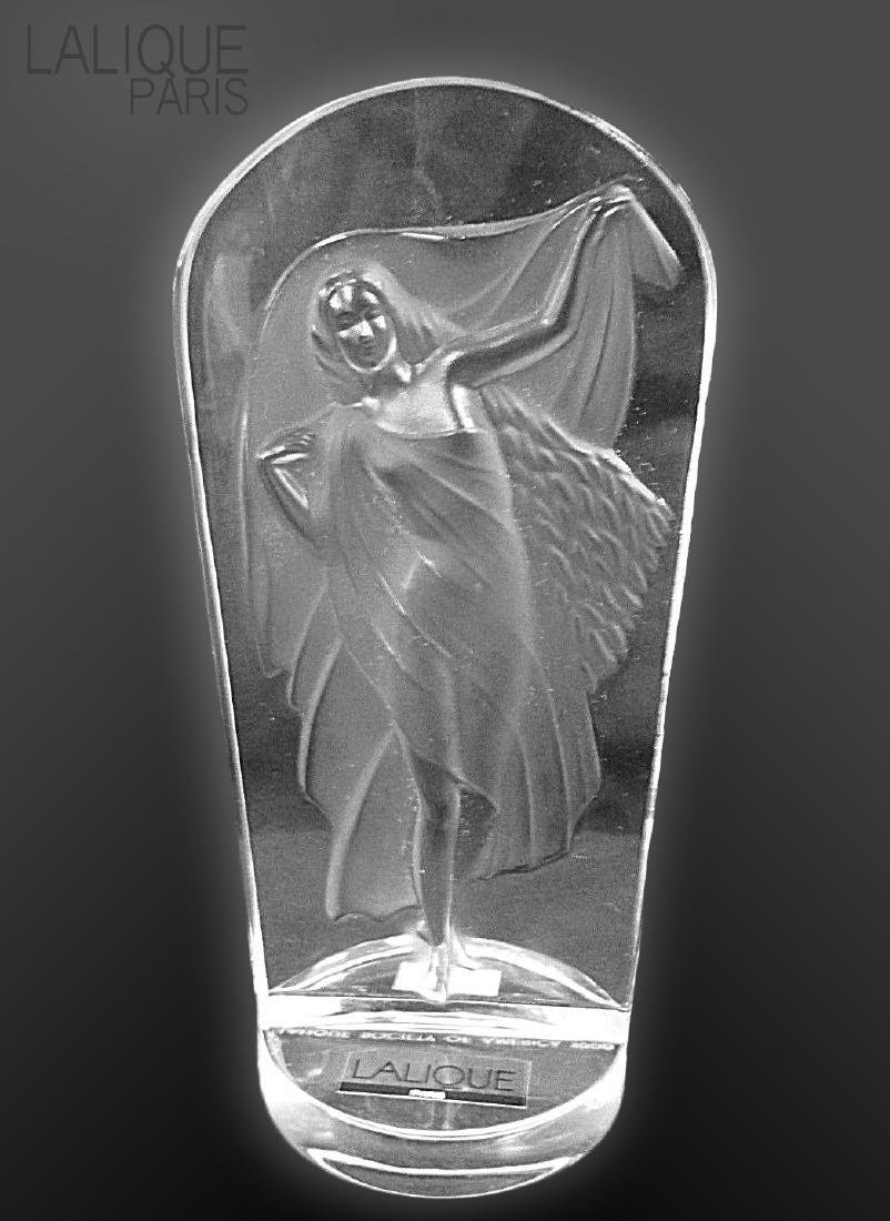 LALIQUE Lady Frosted Crystal Decorative Statue
