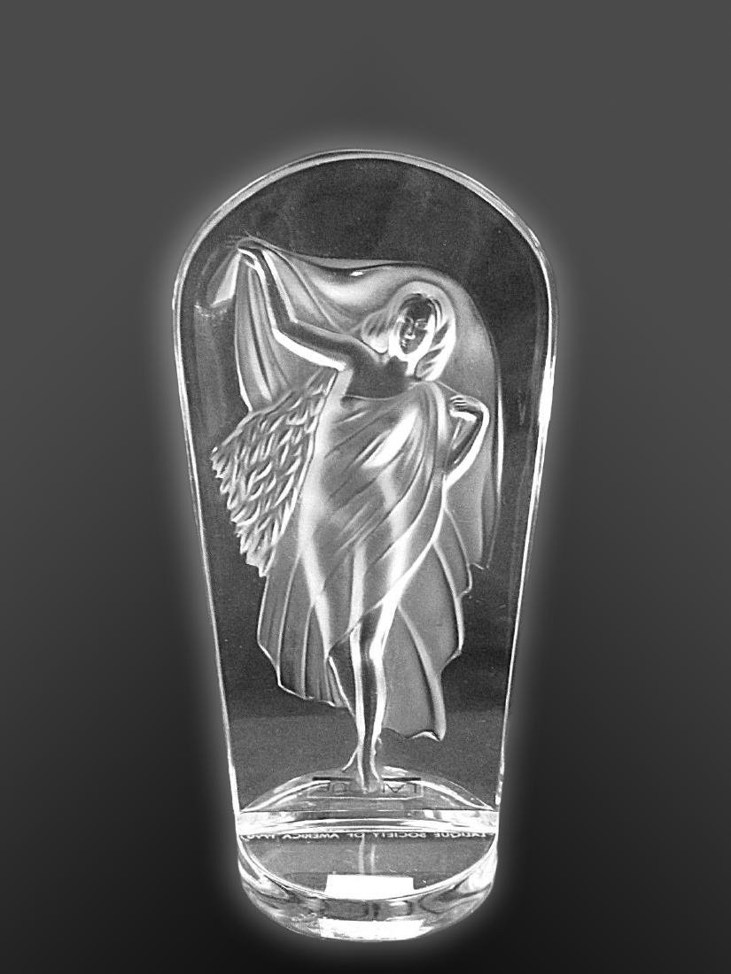 LALIQUE Lady Frosted Crystal Decorative Statue - 2