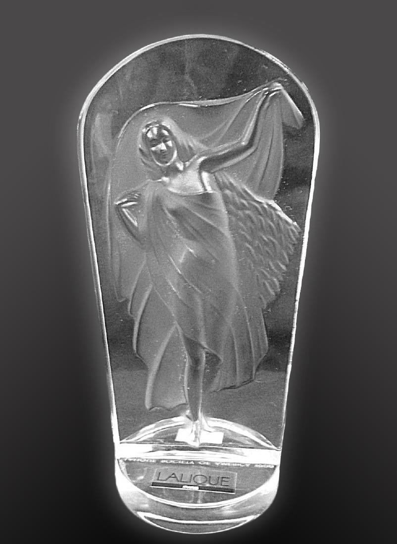 LALIQUE Lady Frosted Crystal Decorative Statue - 6