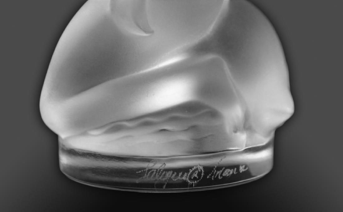 "LALIQUE ""Leda and The Swan"" Crystal Figurine, Signed! - 5"