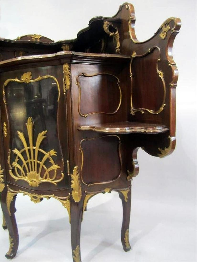 19th C. CARVED WOOD CORNER CABINET - 4