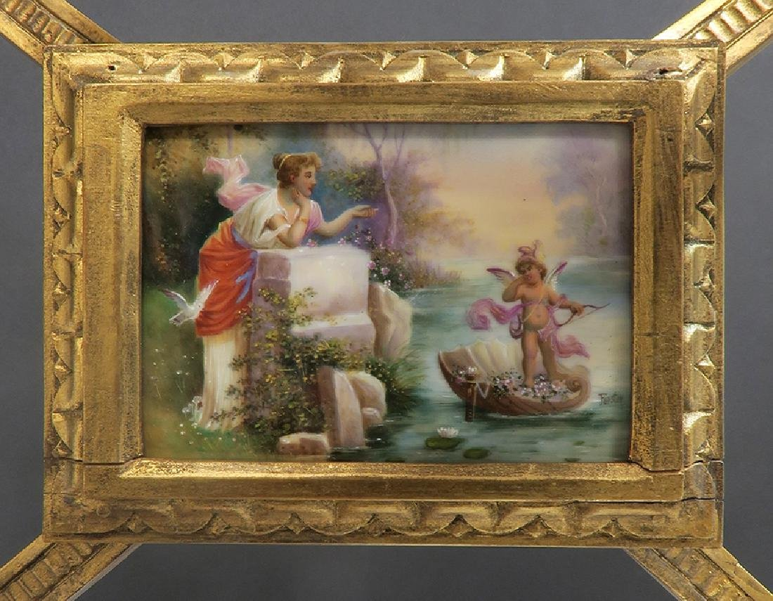 19th C Orientalist Hand Painted Royal Vienna Side Table - 10