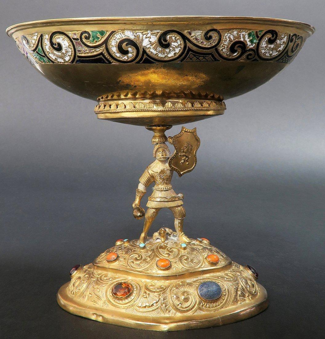 Austrian/Viennese Silver & Enamel Centerpiece