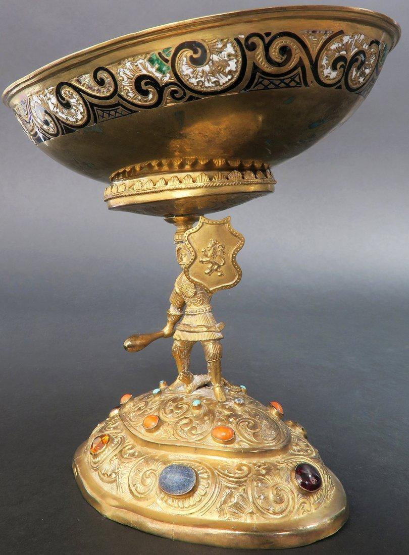 Austrian/Viennese Silver & Enamel Centerpiece - 2