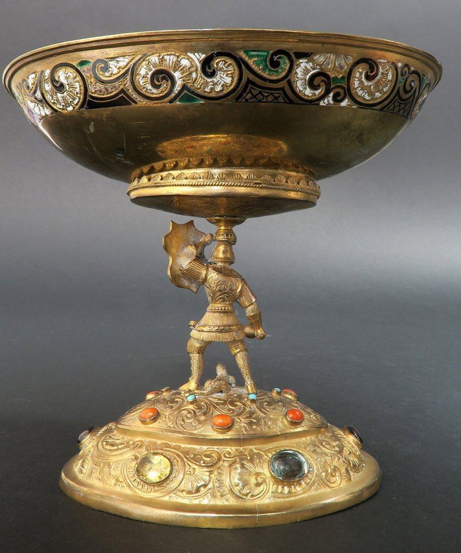 Austrian/Viennese Silver & Enamel Centerpiece - 4