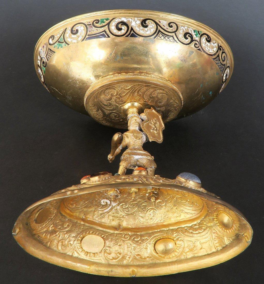 Austrian/Viennese Silver & Enamel Centerpiece - 7