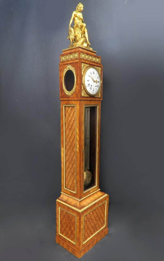 19th C. Ferdinand Berthoud Gilt Bronze Long-Case Clock - 2