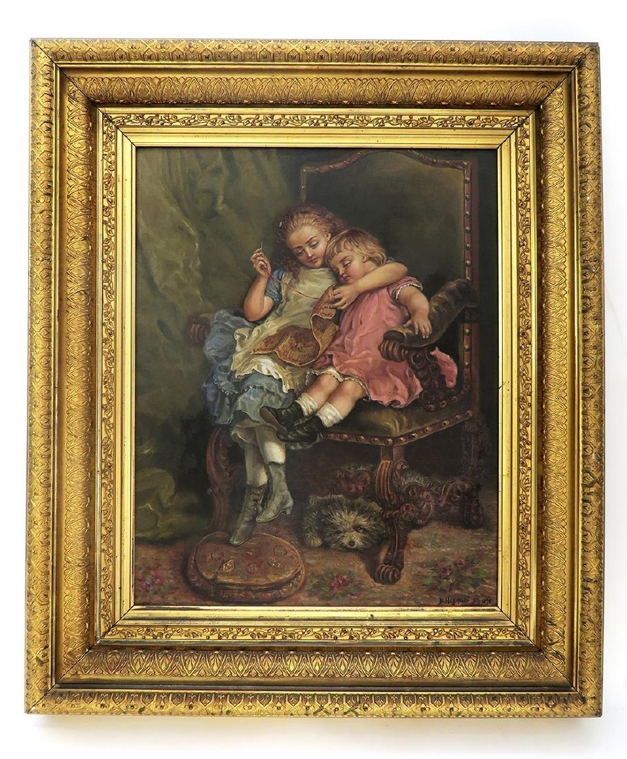 "19th C. Oil on Canvas Painting By ""B. Hagohiam"""