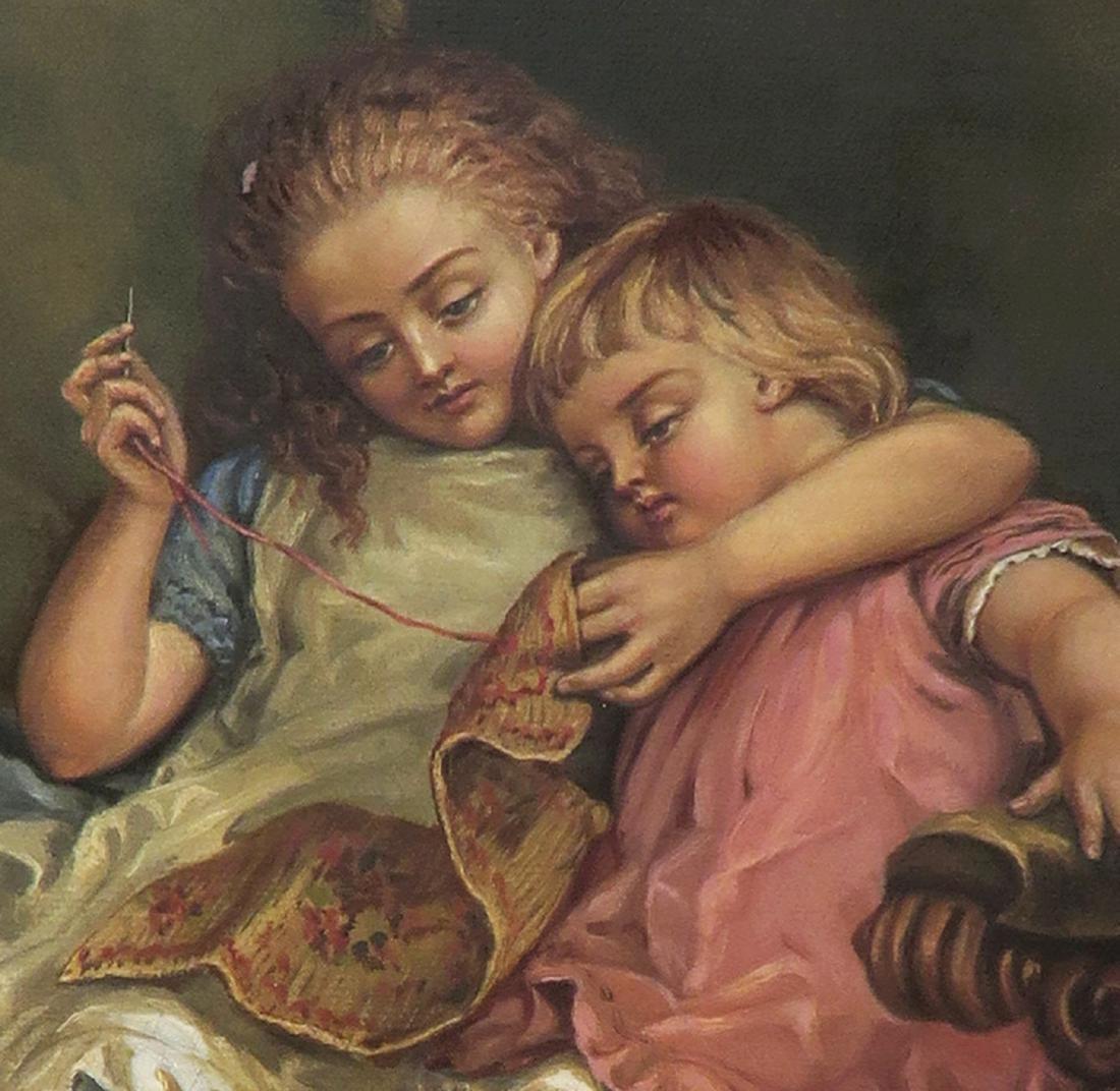 "19th C. Oil on Canvas Painting By ""B. Hagohiam"" - 3"