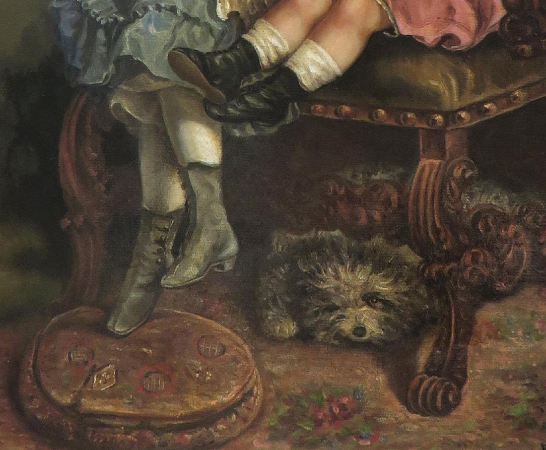 "19th C. Oil on Canvas Painting By ""B. Hagohiam"" - 4"