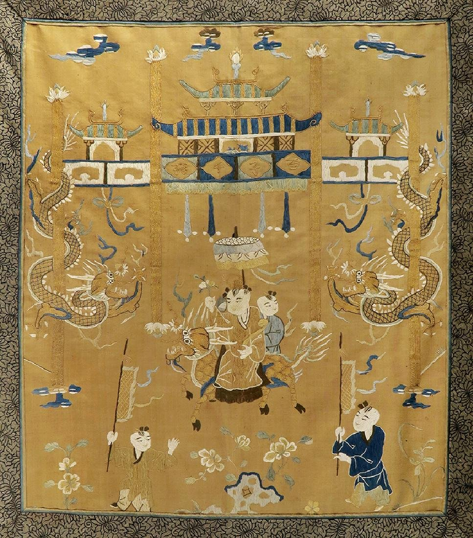 19th C. Chinese Silk Tapestry - 2