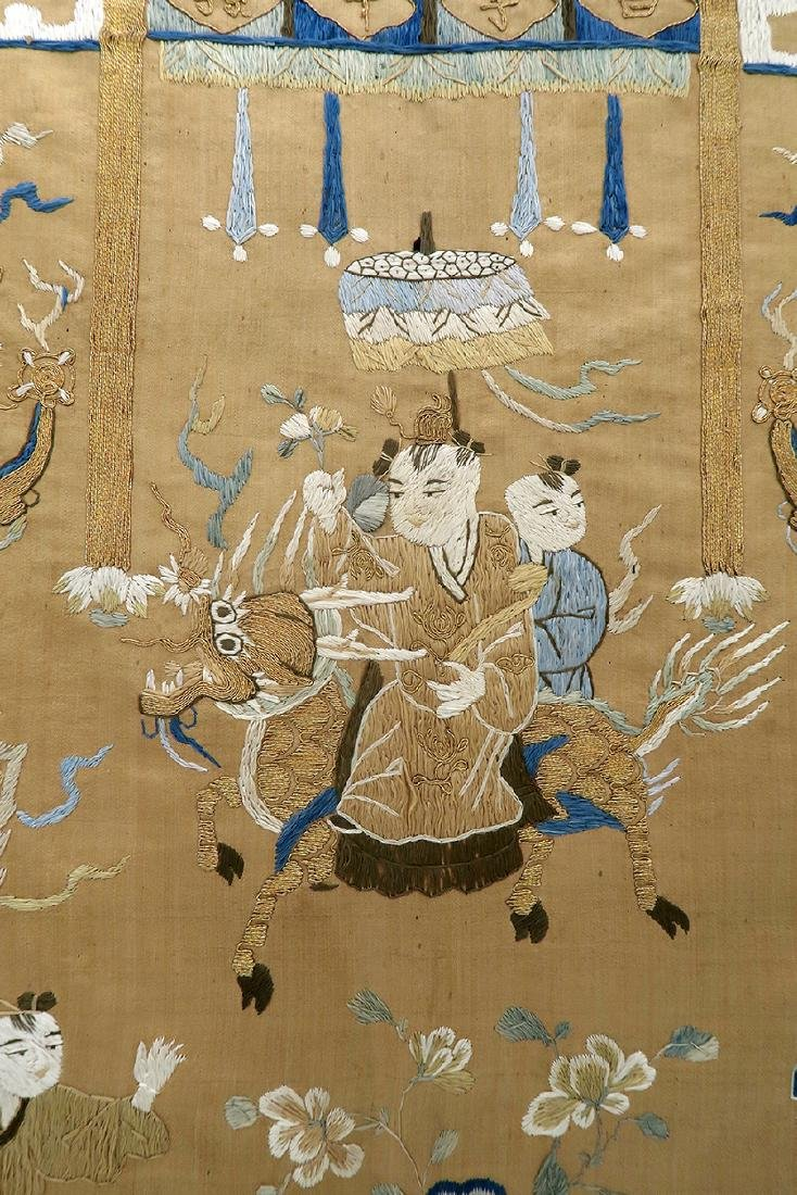 19th C. Chinese Silk Tapestry - 3