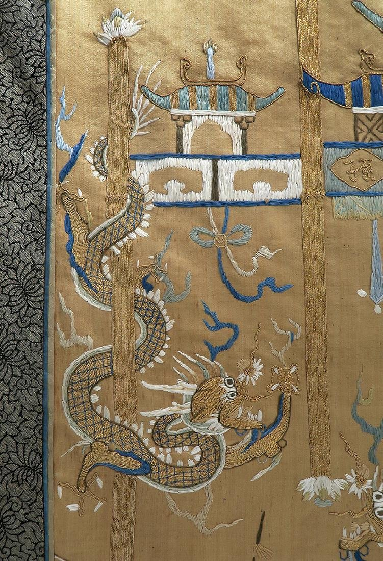19th C. Chinese Silk Tapestry - 4
