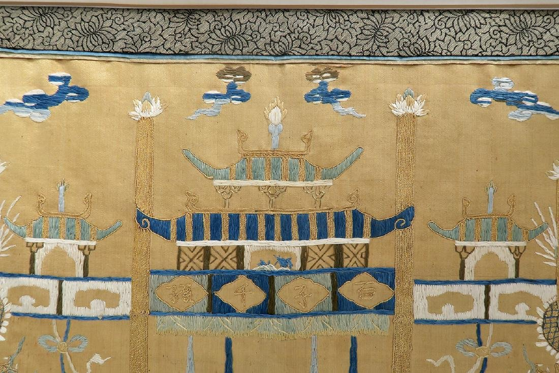 19th C. Chinese Silk Tapestry - 5