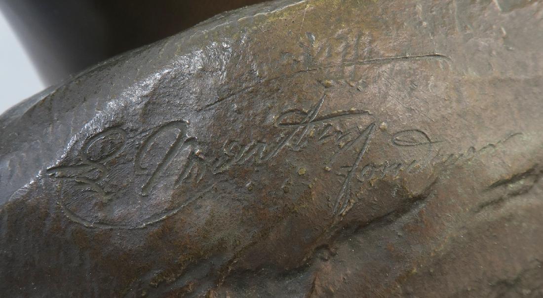 Felix Sanzel Large Bronze Sculpture of Girl L'ESPIEGLE - 9