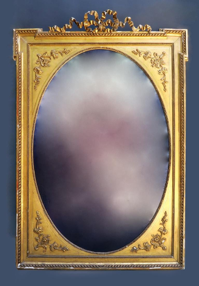 Very Large 19th C. French Gilt Wood Frame