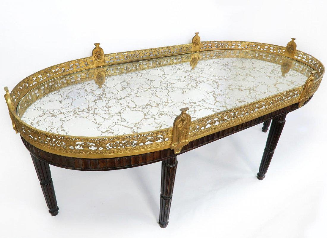 Large French Gilt Bronze Plateau Table - 2