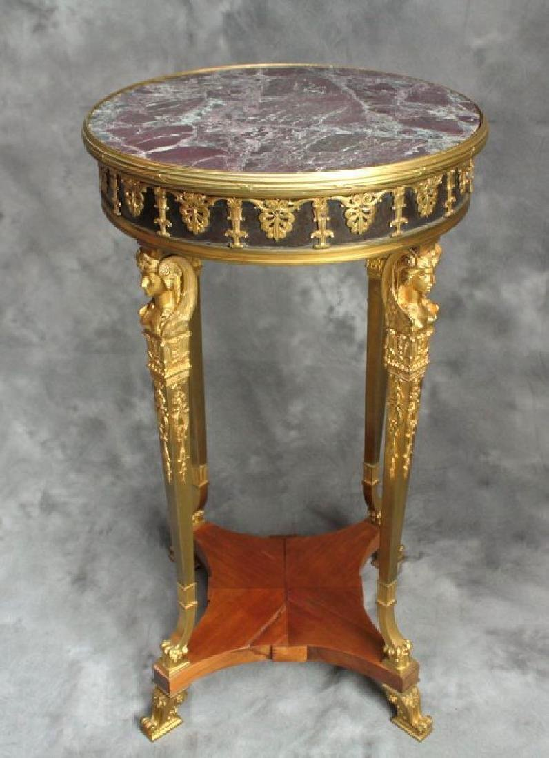 Very Fine 19th C. French/Russian Bronze Side Table - 2
