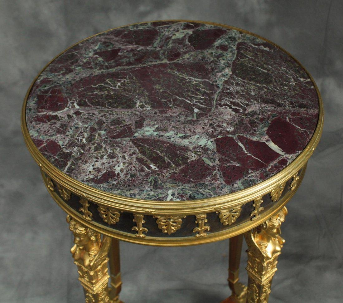 Very Fine 19th C. French/Russian Bronze Side Table - 5