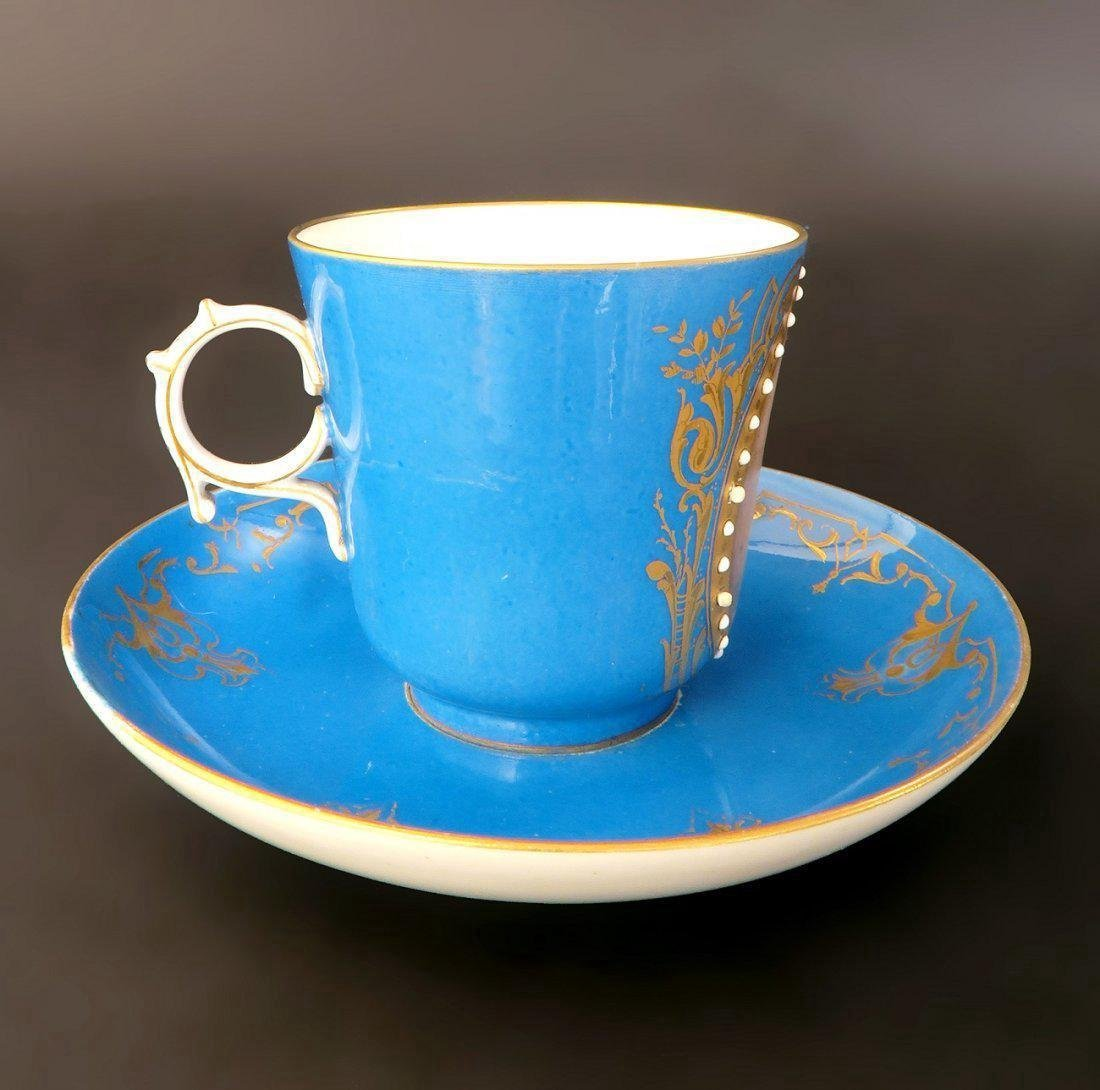 18/19th C. Sevres Jeweled Portrait Cup & Saucer - 3