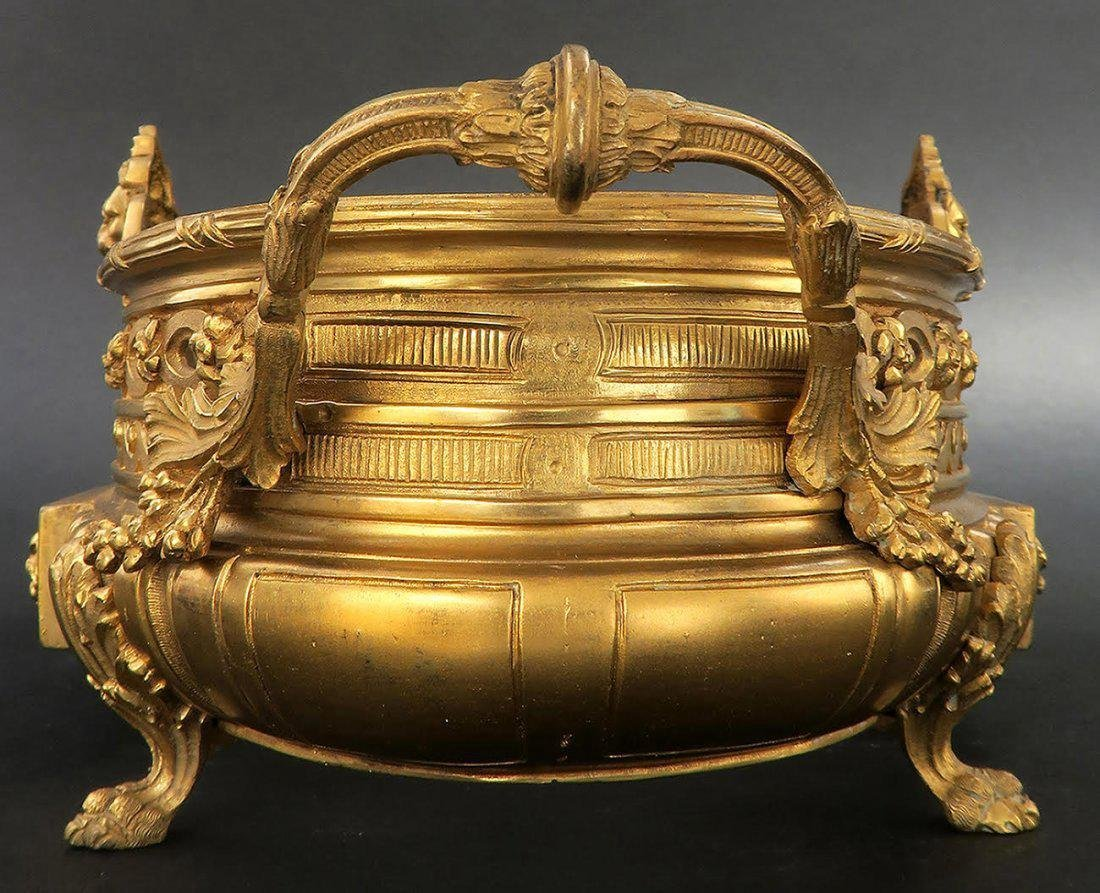 19th C French Gilt Bronze Figural Jardiniere - 3