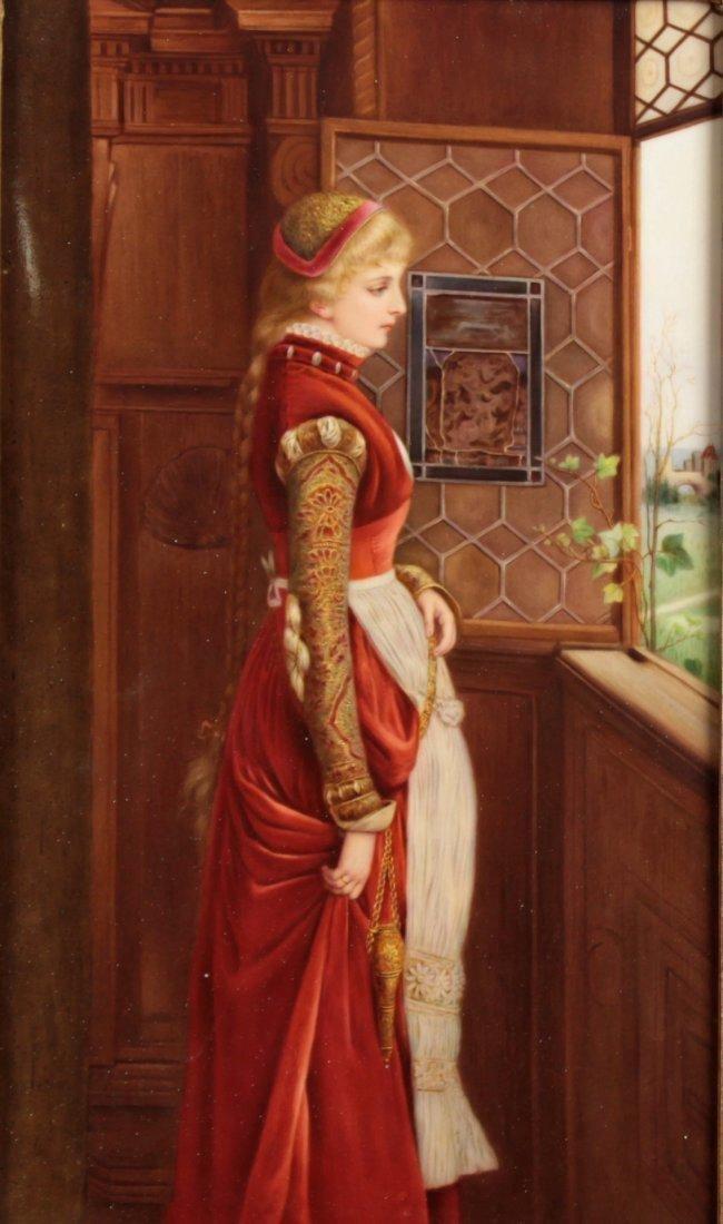 19th C.A fair Haired maiden signed k.muller (KPM) - 2