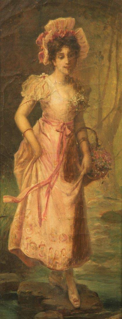 Oil on Canvas on Gold Leaf Frame by Hans Zatzka - 2