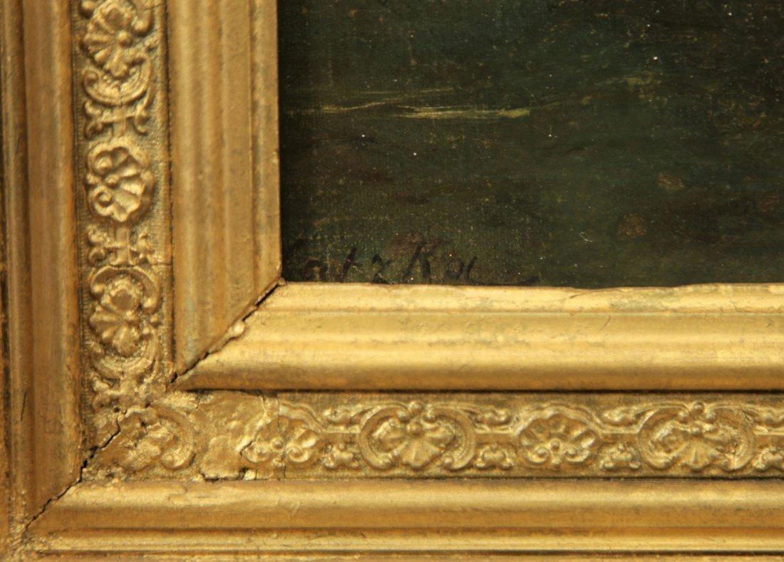 Oil on Canvas on Gold Leaf Frame by Hans Zatzka - 3