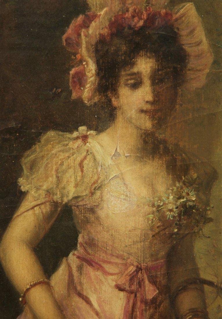 Oil on Canvas on Gold Leaf Frame by Hans Zatzka - 5