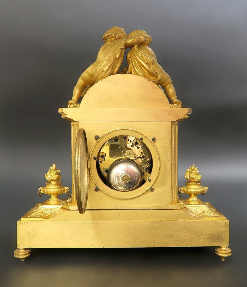 French Bronze & Sevres Porcelain Figural Clock Set - 5