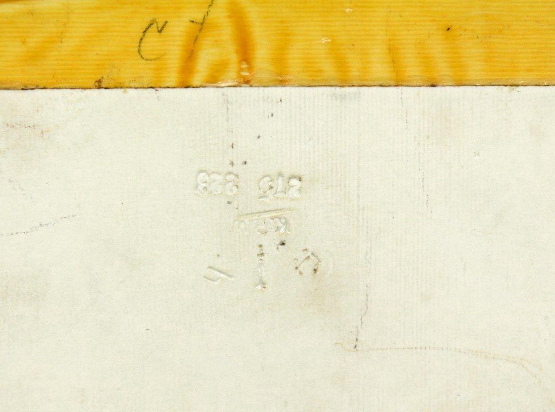 PORCELAIN plaque circa 1890 - 4