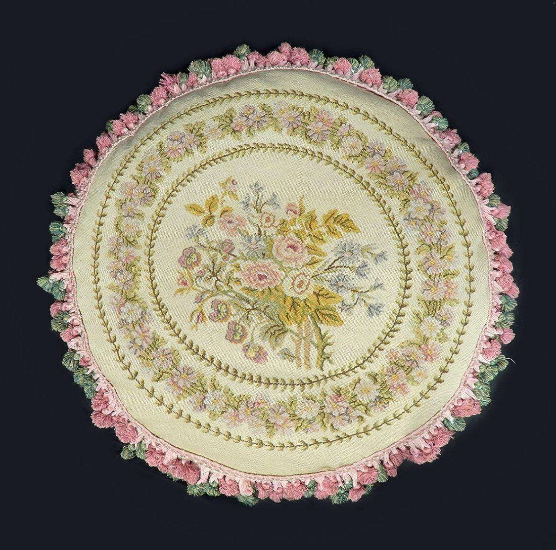 Large 19th Aubusson Pillow 29 inches!!!