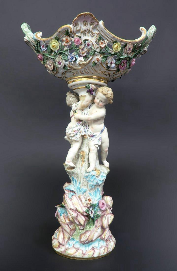 Meissen Porcelain Figural Centerpiece