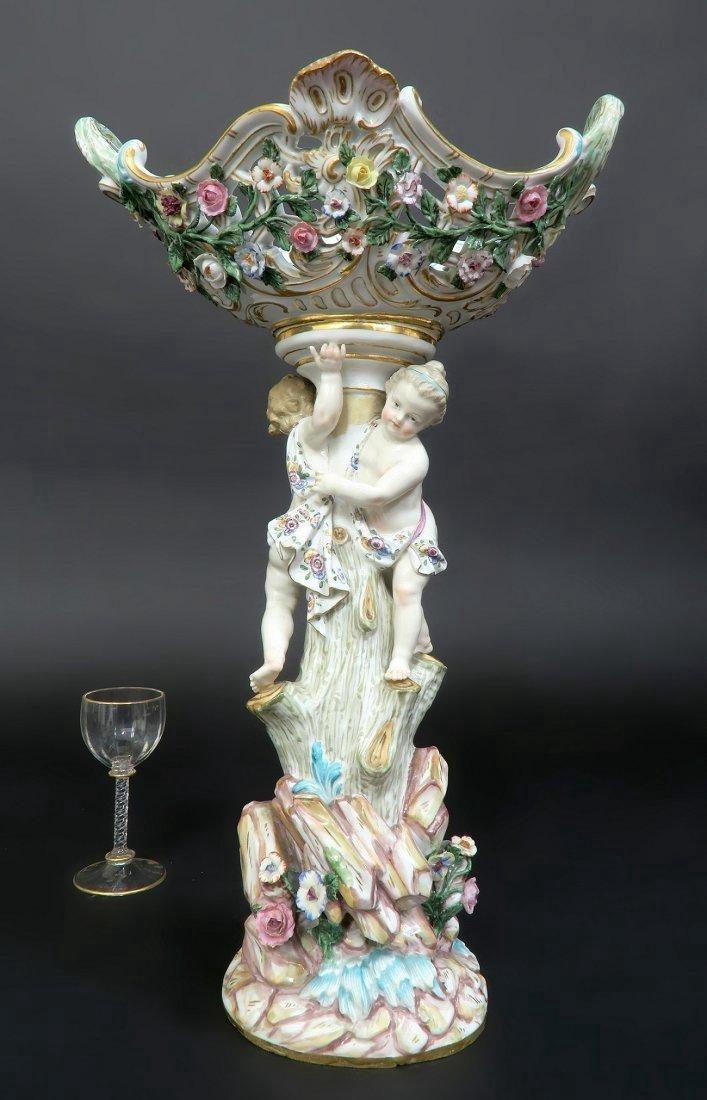 Meissen Porcelain Figural Centerpiece - 3