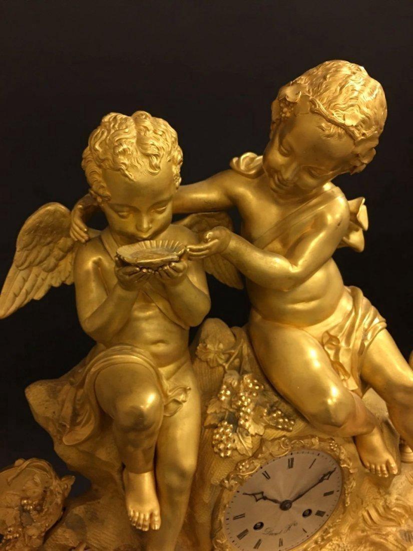 Monumental Dore Bronze French Empire Figural Clock - 2