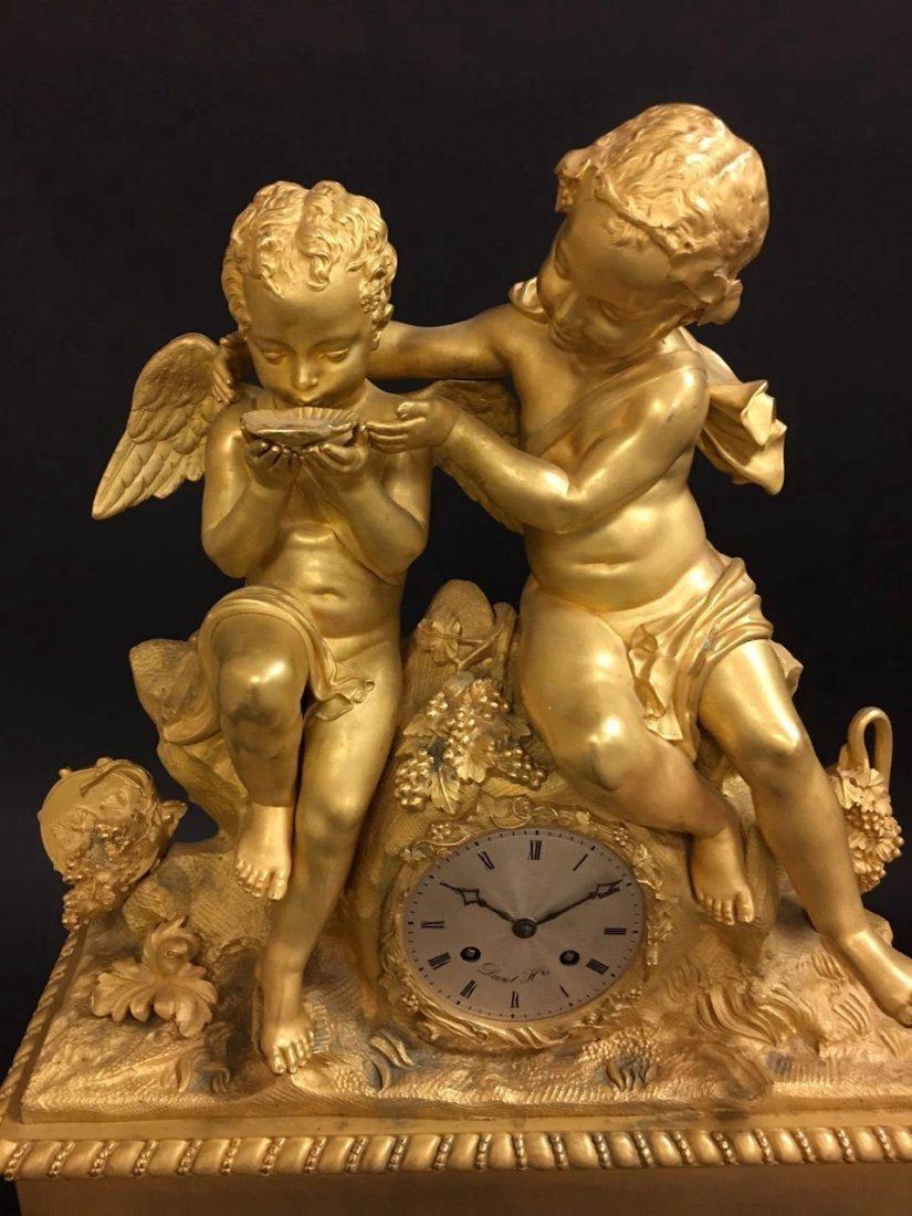 Monumental Dore Bronze French Empire Figural Clock - 3