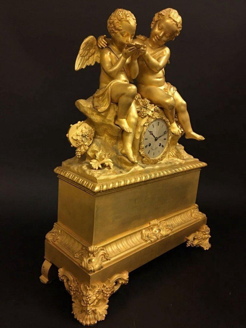 Monumental Dore Bronze French Empire Figural Clock - 4