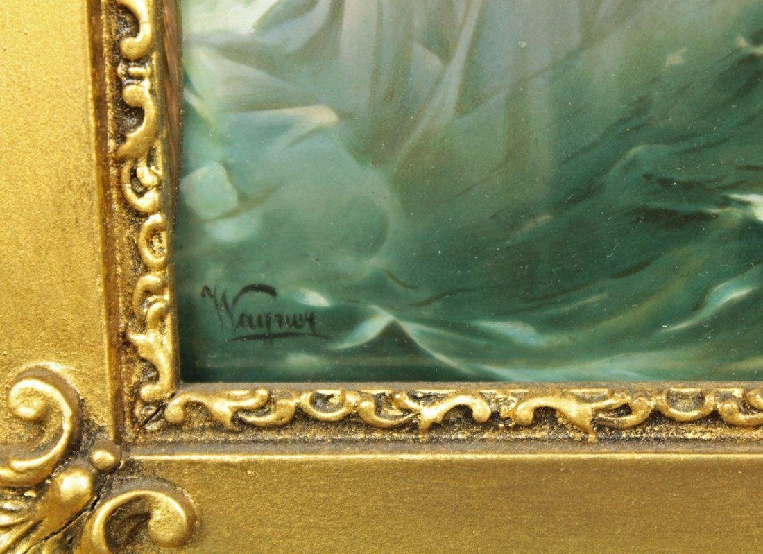 19th C. Plaque With two lovers, Signed Wagner! - 3