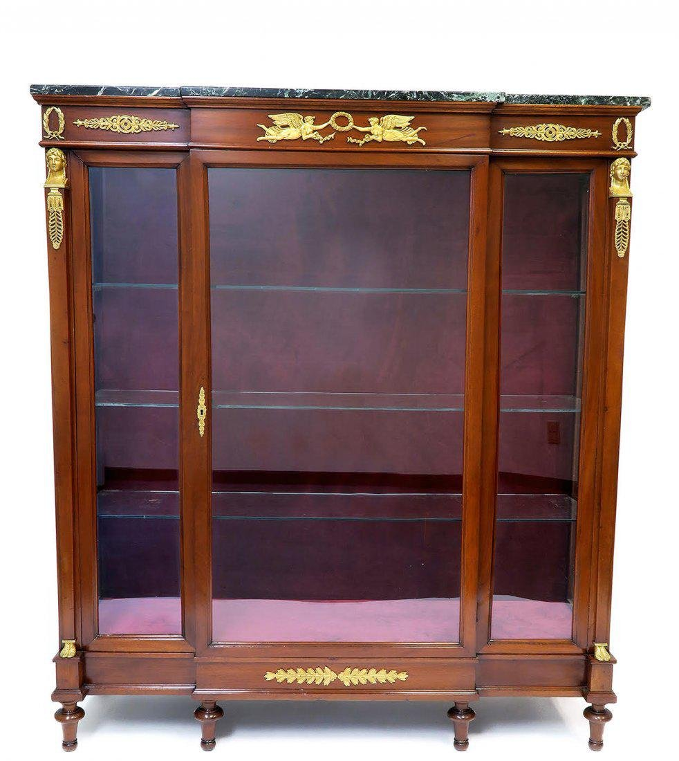 19th C. French Empire Style Vitrine Cabinet