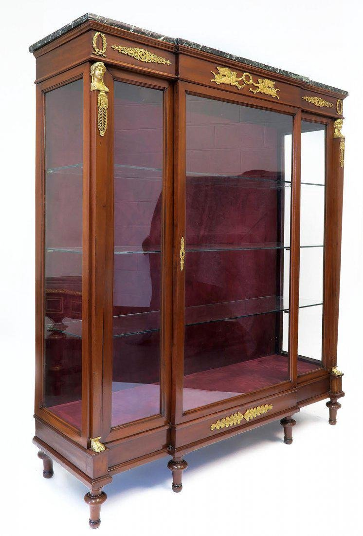 19th C. French Empire Style Vitrine Cabinet - 2